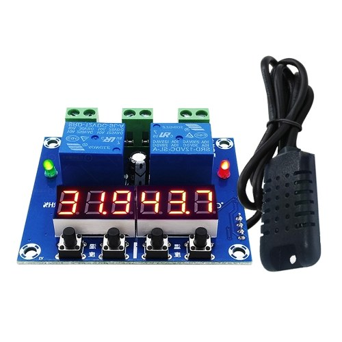 ZFX-M452 Humidity Temperature Controller Module Digital Thermostat Humidistat Controller Automatic Constant Temperature and Humidity   Controller