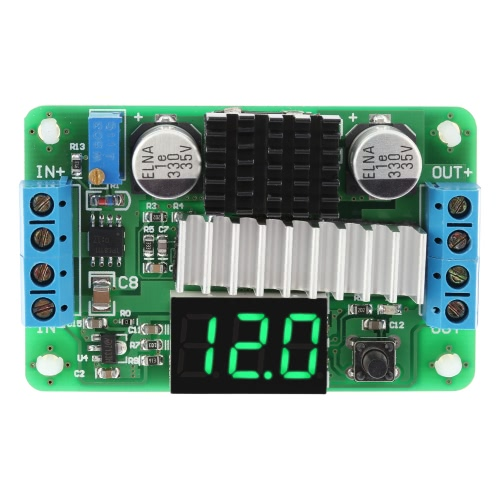 Digital DC-DC 3.5-30V 100W Boost Step-up Module Converter Power Supply LED Voltmeter Display