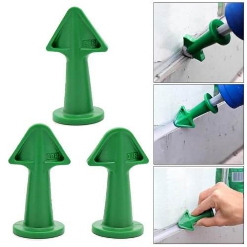 KKmoon 14 PCS Caulk Remover Tools 3 in 1 Metal Scraper with 6 Silicone Pads Grout Angle Scrapers Caulking Nozzle Applicator Sealant Finishing Tools for Kitchen Bathroom Window Ceramic Tile Floor