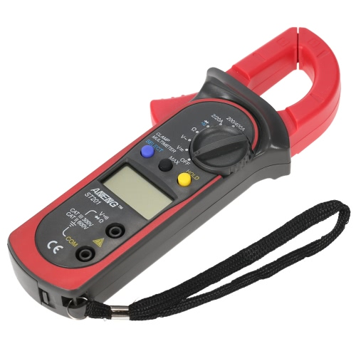 Handheld Digital LCD Display Clamp Meter Multimeter AC/DC Voltage AC Current Resistance Diode Continuity Measuring Data Hold