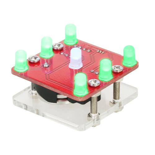 小型振動モーター付きDIYスイングシェーキングLEDダイスキットモジュール