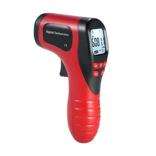 ハンドヘルドデジタルLCD写真タコメータレーザー非接触タコレンジ2.5-99999RPM 1pc反射テープ付きモーター速度計