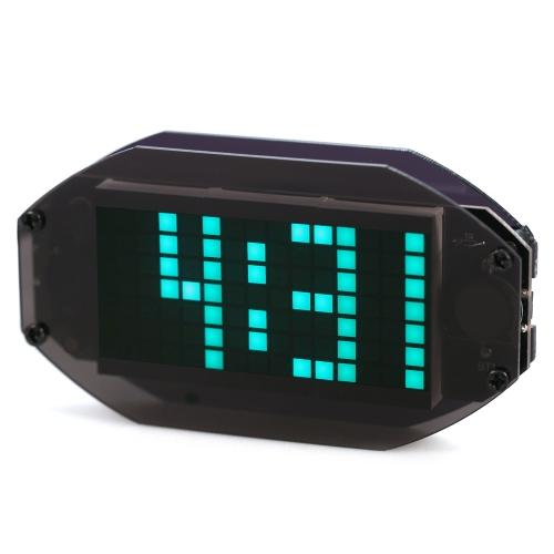DIY Black Digital LED Mirror Clock Matrix Desktop