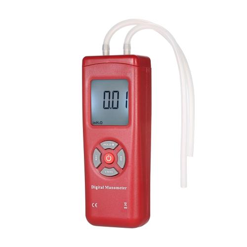 プロのハンドヘルドLCDデジタルデュアルポートマノメータ11気圧測定/±13.78kPa /±2psiの差動空気圧ゲージテスタ