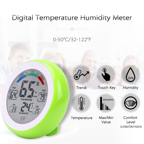 Touch Screen Temperature and Humidity Meter