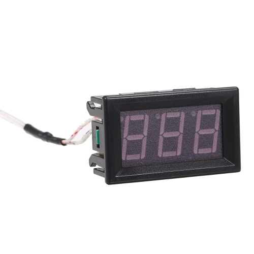 XH-B310 Industrial Digital Thermometer 12V Temperature Meter K-type M6 Thermocouple Tester -30~800℃ Thermograph High Accuracy with LED-Display
