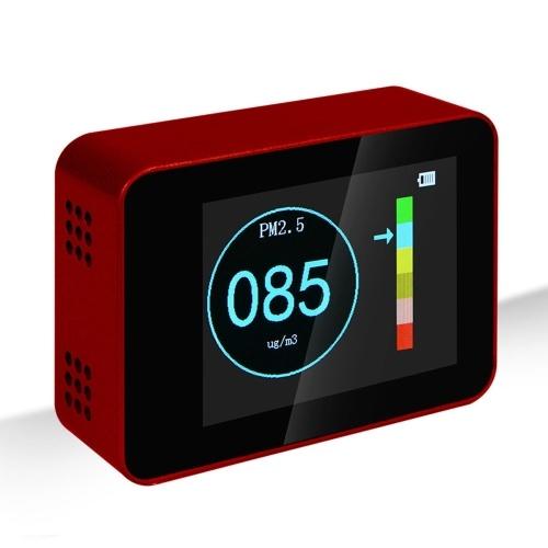 Détecteur de qualité de l'air portable Détecteurs PM2.5 PM10 PM1.0
