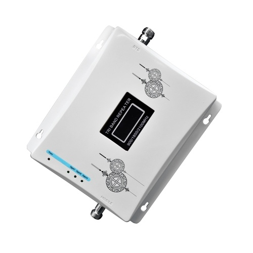 Tri Band Amplifier 900 1800 2100MHz GSM DCS 3G Universal Signal Booster Intelligent Repeater Kit
