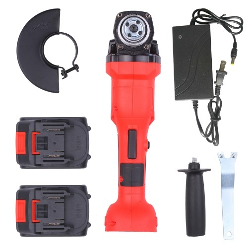 21V Brushless Cordless Angle Grinder 11000RPM Handhel Electric Grinder with 2pcs 20.0Ah Lithium-Ion Battery and Tool Box