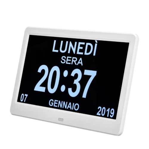 10.1 Zoll High Definition Digital Large Nicht abgekürzte Tagesuhr Datum Uhrzeit Anzeigetabelle Wecker
