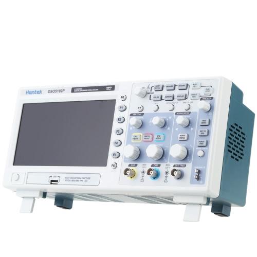 "Certified Hantek DSO5102P Osciloscópio de armazenamento digital 2CH 100MHz 1Gs 7 ""TFT 8 bits 4nS / div-80S / div"
