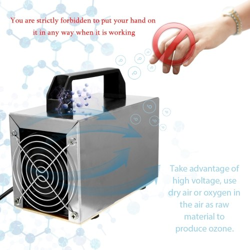 Ozonator 28g Ozone Machine Air Purifier Air Cleaner Disinfection Sterilization Cleaning Formaldehyde Air Filter Fan For Home
