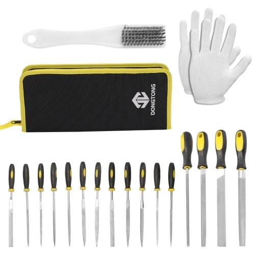 19 PCS Steel File Kit Assorted Rasp Repairing Tool Set with Storage Bag