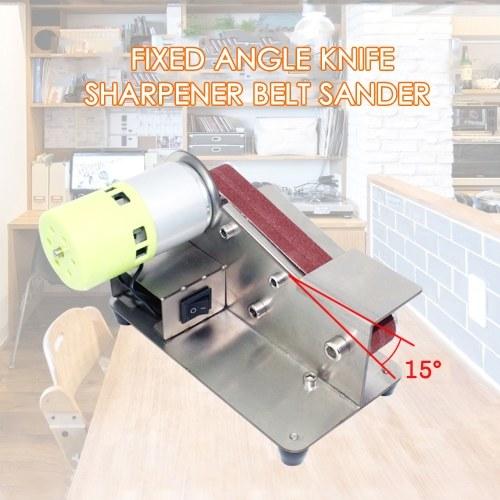 15-degree Fixed Angle Knife Sharpener Belt Sander 7 Level Adjustable Polisher 100W Polishing Machine with 10pcs Sanding Belts