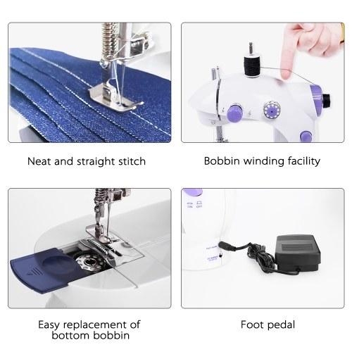 Мини Портативные Ручные Швейные Машины Бытовые Многофункциональные Ткани Электрические Швейные Машины фото