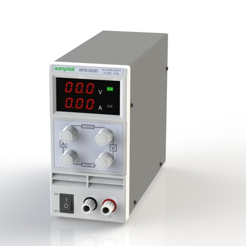 Switching Display 3 Digits LED 0-120V 1A/2A/3A Mini DC Power Supply Precision Variable Adjustable AC 110V/220V 50/60Hz