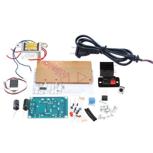LM317 1.25V-12V Continuously Adjustable Regulated Voltage Power Supply DIY Kit with Transformer