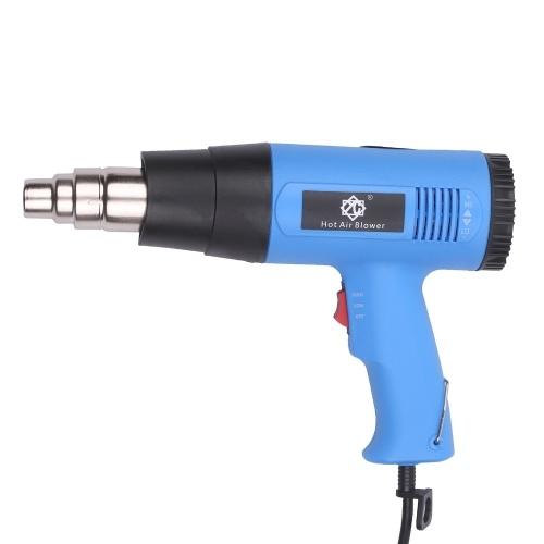 2000W Heißluftpistole Professionelle elektrische Heißluftpistole Schnelle Erwärmung Variable Temperaturen mit 2-Temp-Einstellungen Kegeldüse 140 ℉ ~ 1112 ℉ zum Löten Abisolieren Lack Schrumpfen PVC Überhitzungsschutz