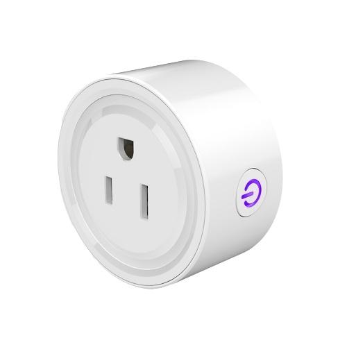 Tuya Wifi Intelligent Socket Controle remoto Plugue WiFi Cronômetro de controle de voz remoto sem fio Smartplug compatível com Amazon Alexa Google Assistant