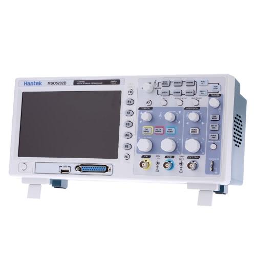 HANTEK MSO5202D смешанного сигнала 200 МГц 2CH 1 ГSa/s 1M цифровой запоминающий осциллограф 16-канальный логический анализатор