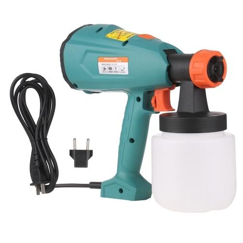 Power Paint Sprayer 550W High Power HVLP Spray Paint Machine с контейнером 800 мл для домашней покраски DIY Шкафы Палубы Мебель