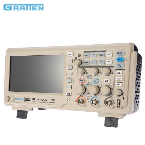 GRATTEN GA1102CAL Профессиональный цифровой запоминающий осциллограф 2CH 100MHz 1GSa / с 7