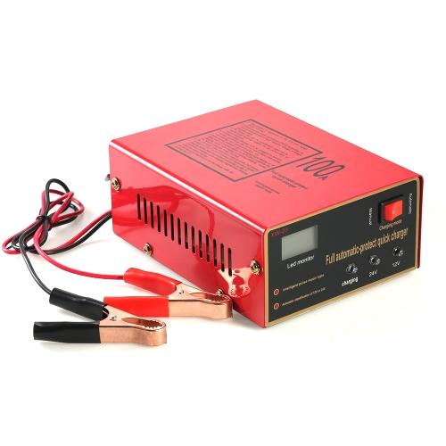 12V / 24Vインテリジェント自動LED充電器パルス修復タイプ鉛酸バッテリおよびリチウムバッテリ用メンテナ140W AC110V