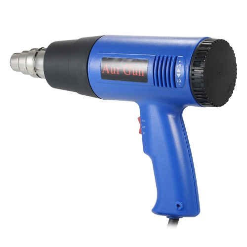 1800W Industrial Fast Heating Hot Air Gun Adjustable Temperature Hot Heat Shrink Blower Tool with 4 Nozzles AC110V US Plug
