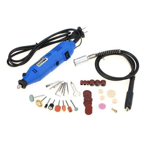 180Wミニ電動ドリルロータリーツールキット40PCS電動工具プロフェッショナルツールロータリードリルアクセサリーフレックスシャフトビットサンディングペーパーUSプラグ
