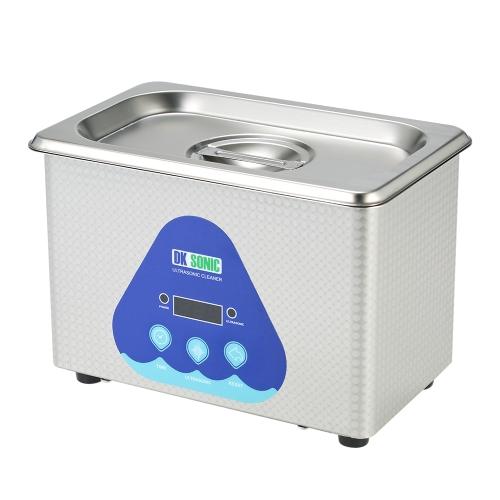 0.8Lステンレススチール家庭用デジタル超音波クリーナータンクジュエリーウォッチサーキットボード洗浄滅菌機AC100-120V