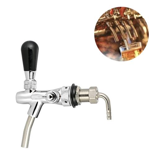 Controle de fluxo ajustável Torneira de torneira de cerveja cromada