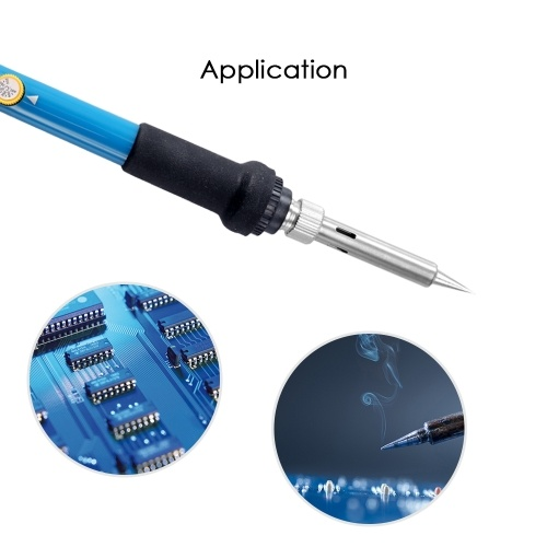 60W Electric Adjustable Temperature Welding Soldering Iron + 5 Replacement Soldering Tips Set