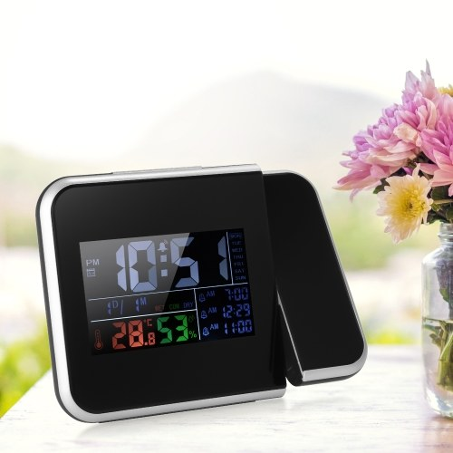 Indoor Digital Color Thermometer Hygrometer Clock With projection function
