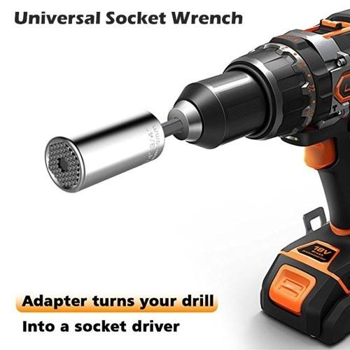 7mm-19mm Multi-functional Universal Socket Metric Wrench Power Drill Adapter Socket Set Professional Repair Tools