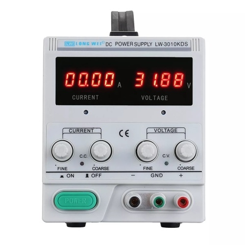 LARGO WEI LW-3010KDS 110V / 220V 0-30V 0-10A Pantalla LED ajustable LED Fuente de alimentación DC Fuente de alimentación regulada