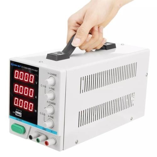 LARGO WEI PS-305DF 110V / 220V 30V 5A Pantalla digital LED ajustable Fuente de alimentación DC Conmutación regulada 5V 2A Fuente de alimentación USB
