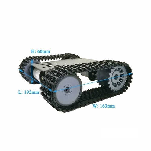 Tracked Robot Smart Car Platform Robotics Kits Robot Tank Crawler Chassis DIY Kit Solid Robotic Platform Tank Mobile Platform Robotic Toy Platform for Arduino