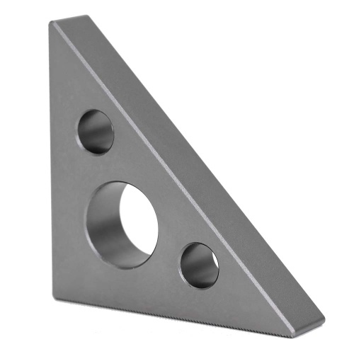 Mini Aluminum Alloy 45 Degree 90 Degree Right Angle Gauge Multifunctional Inch Metric Angle Meter Triangle Ruler Woodworking Measurement Tool