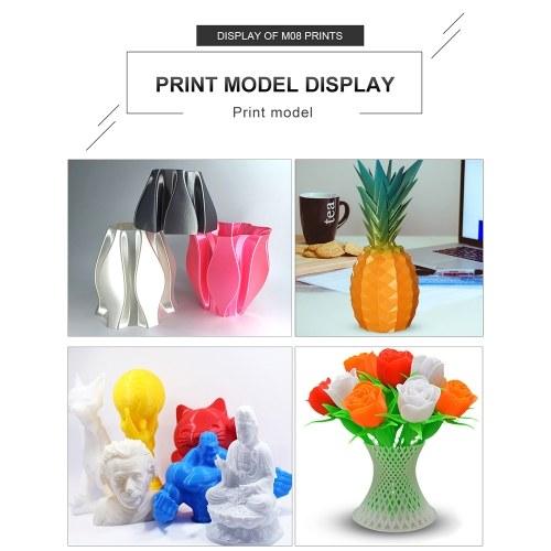Высокоточный 3D-принтер 3.8-дюймовый сенсорный экран DIY Самостоятельная сборка 220 * 220 * 270 мм Макс. Размер печати с функцией возобновления печати для дома и школы DIY Craft
