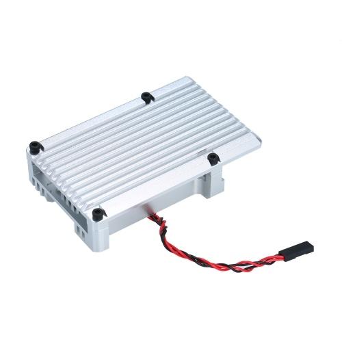 Корпус Raspberry Pi 4 Armor Двойной охлаждающий вентилятор Корпус из алюминиевого сплава с радиатором Столб Совместим с Raspberry Pi 4 Модель B фото