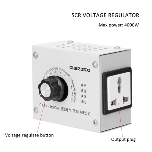 Compact Variable Voltage Regulator Portable Speed Temperature Light Voltage Adjuatable Dimmer