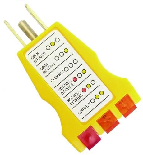 Rilevatore di filo elettrico con spina a 3 poli presa di alimentazione CA tester presa GFCI GFCI