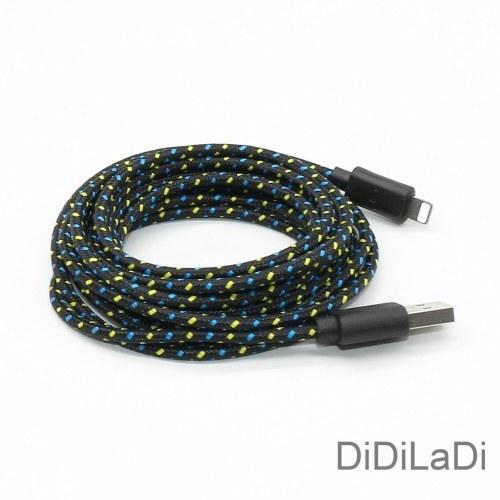 1M (3FT) Плетеный Lightning USB зарядное устройство кабель для синхронизации данных для iPhone 6 7 8 Plus X XR Белый