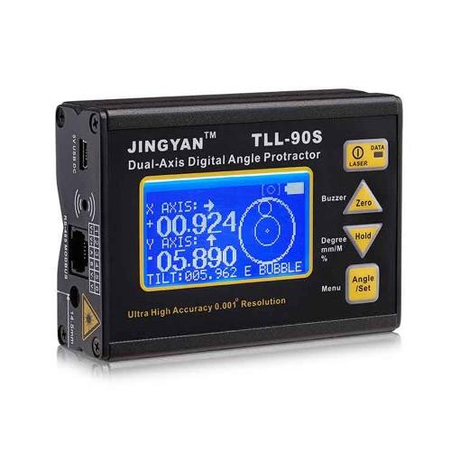 TLL-90S Super alta precisione angolo Meter 0,005 professionale doppio asse digitale Laser livello inclinometro angolo goniometro con Display LCD 100-240V 50 - 60Hz