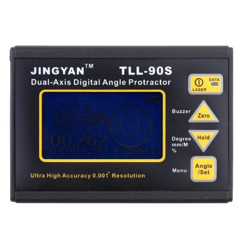TLL-90S Super High Precision Angle Meter 0.005 Профессиональный двухосевой цифровой лазерный указатель угла наклона инклинометра