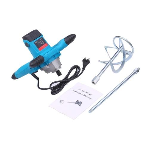 220V 2100W Mixer elettrico portatile Miscelatore di cemento elettrico Agitatore 50 / 60Hz Miscelatore per volante manuale a 6 velocità Miscelatore per calcestruzzo per malte Malta per fanghi di vernice 800rpm