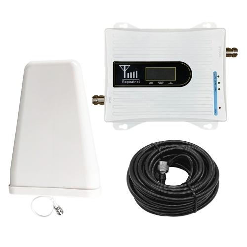20A-GDW 2G 3G 4G Triplo telefono cellulare ripetitore di segnale 900/1800 / 2100MHz Set di antenne per ripetitore di segnale cellulare mobile