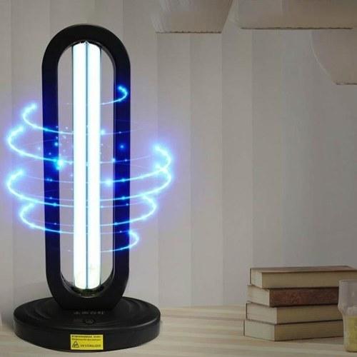 Lampada disinfettante UV ad alta ozono da 38W Luce germicida domestica intelligente a 360 gradi a luce ultravioletta a distanza