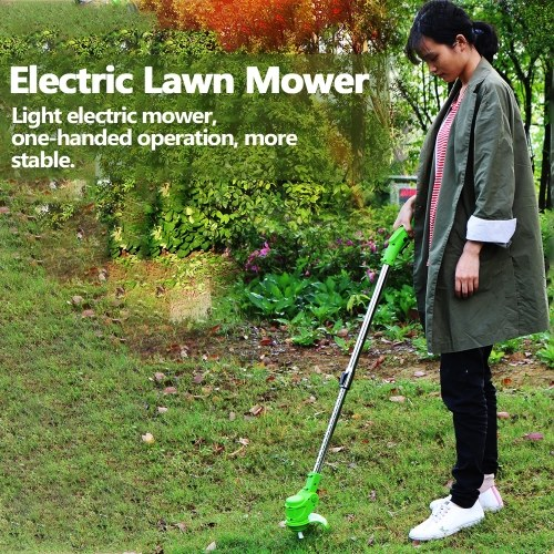 Electric Lawn Mower Agricultural Household Cordless Weeder 12V Lithium Battery Portable Garden Pruning Tool Grass Trimmer Brush Cutter