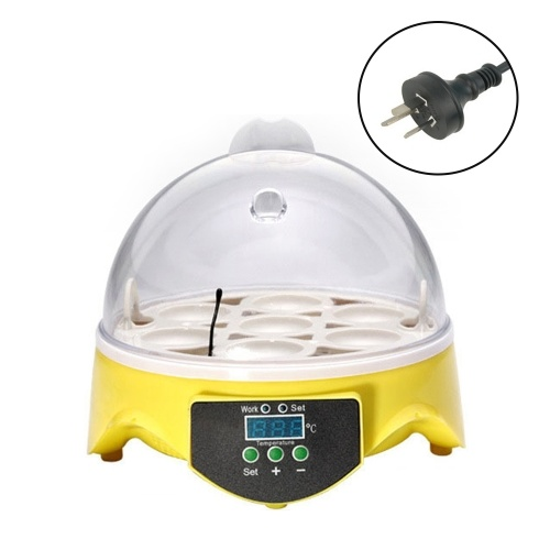 Household 7 Eggs Incubator Digital Temperature Adjustable Hatcher Semi-automatic Eggs Brooder